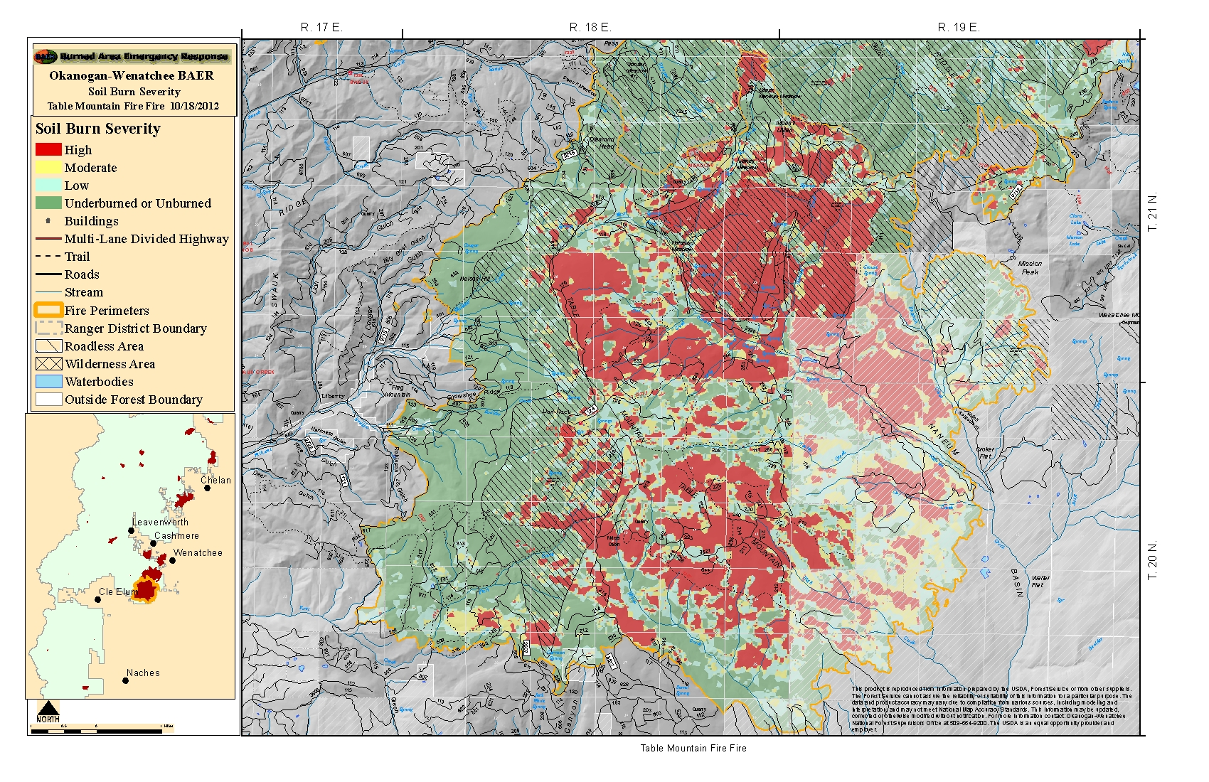 Maps 2012 Central Washington Fire Recovery