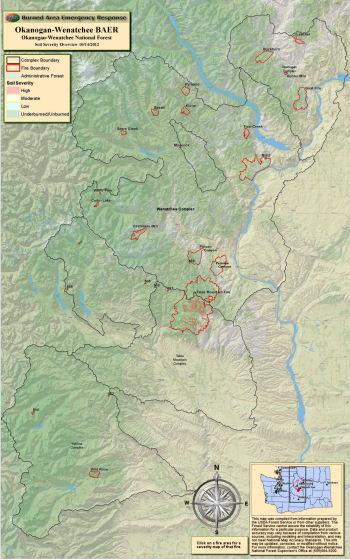 Central Washington Fires Map