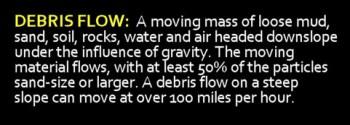 What is a debris flow?