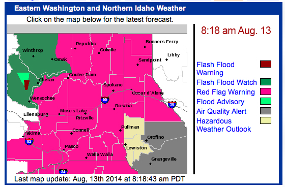 08/18 Weather watches and warnings