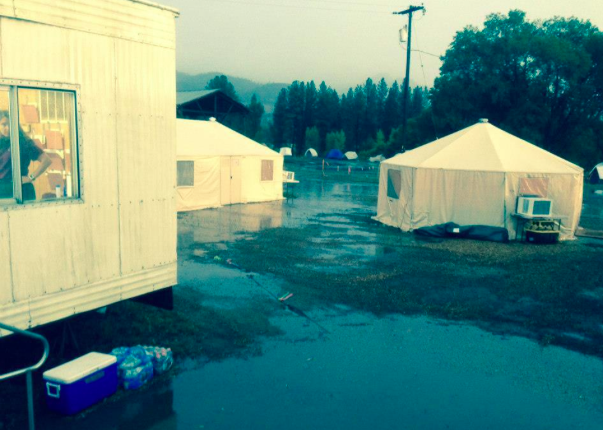 fire camp flooding