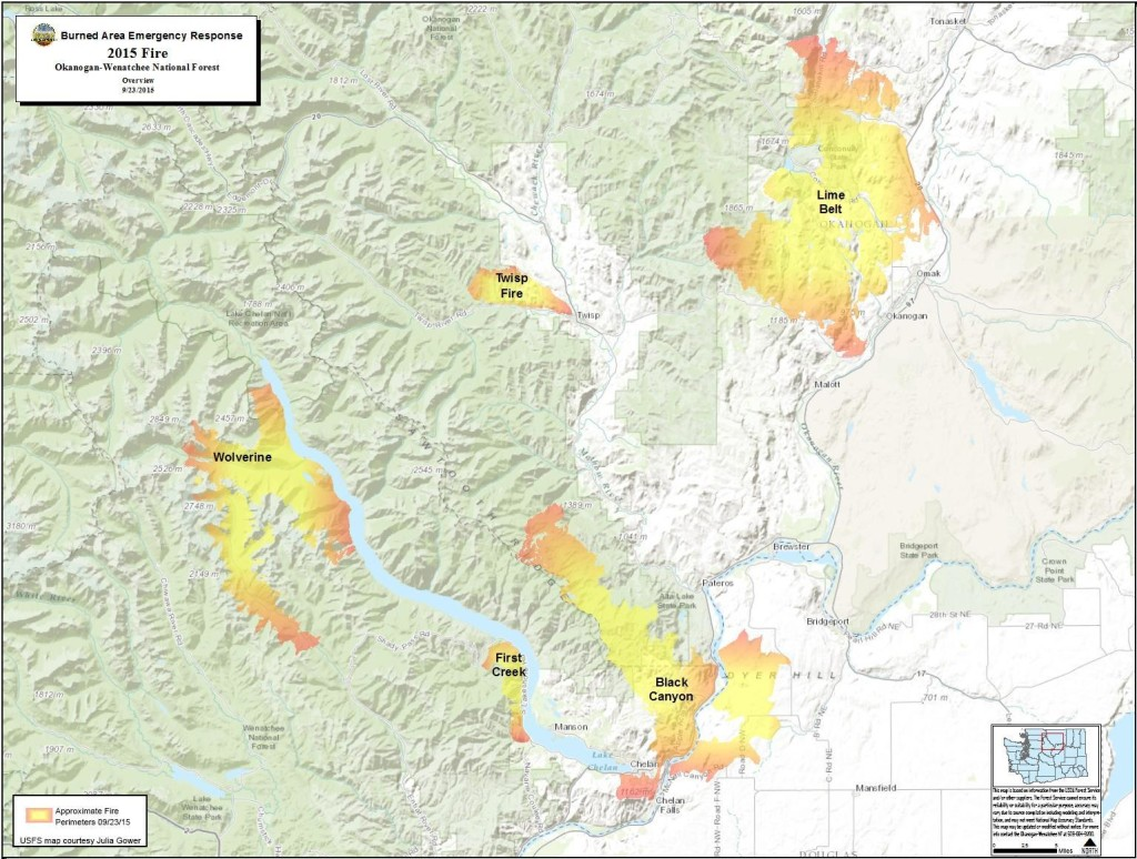 Fire Locations: 2015 BAER