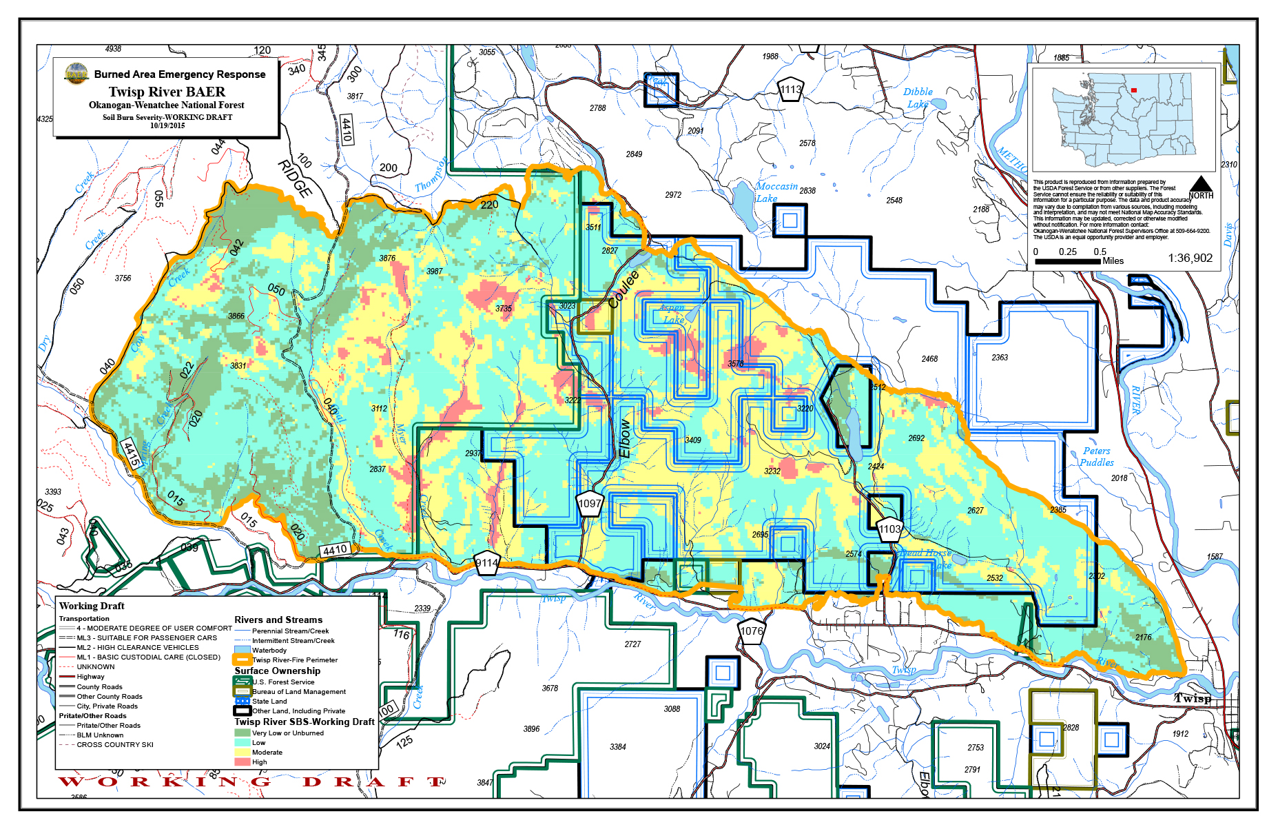 MAPS | Central Washington Fire Recovery 2015
