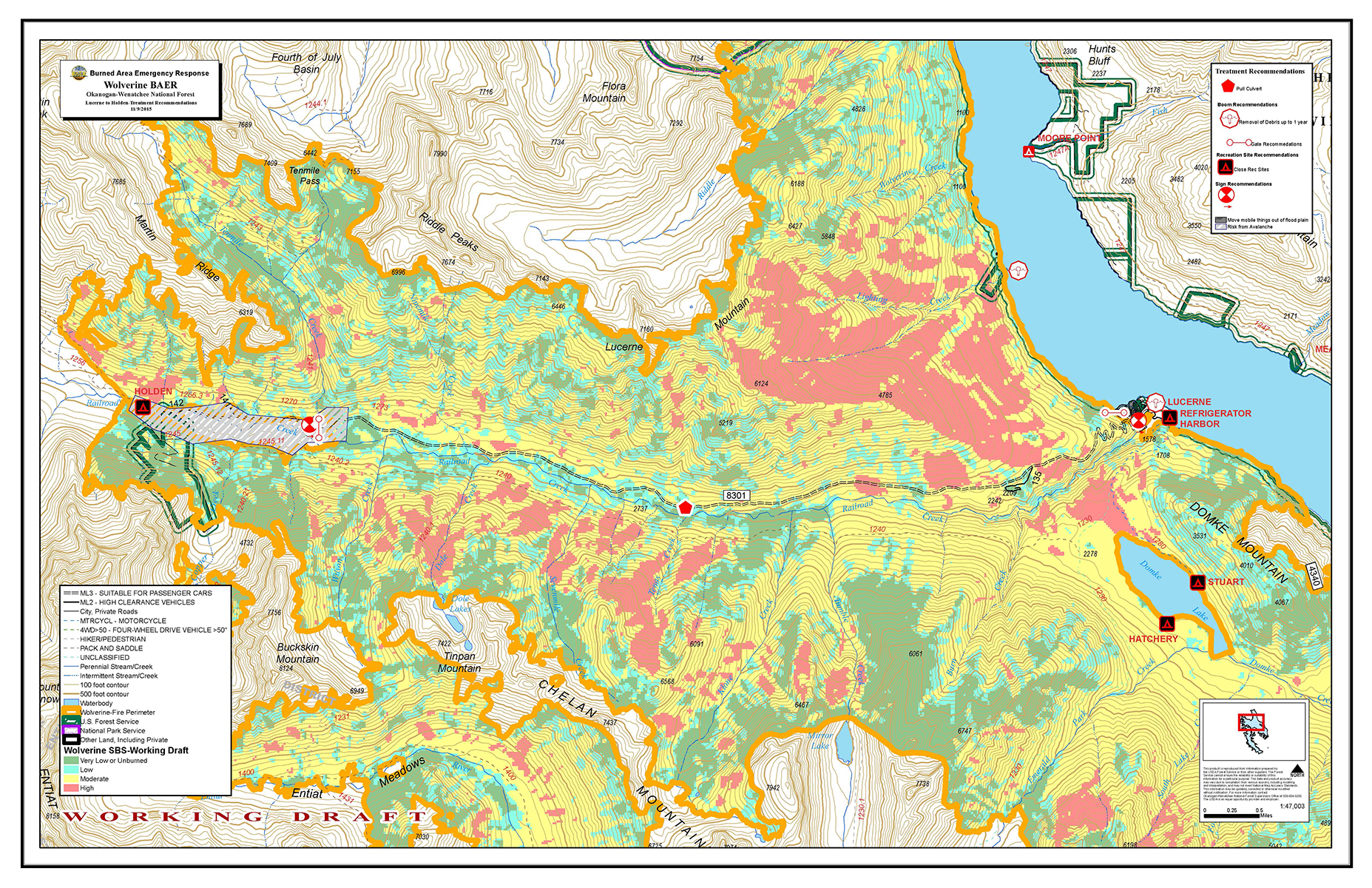 High Park Fire Map.Maps Central Washington Fire Recovery 2015