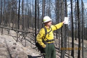 Discussing canopy cover, Black Canyon burn area