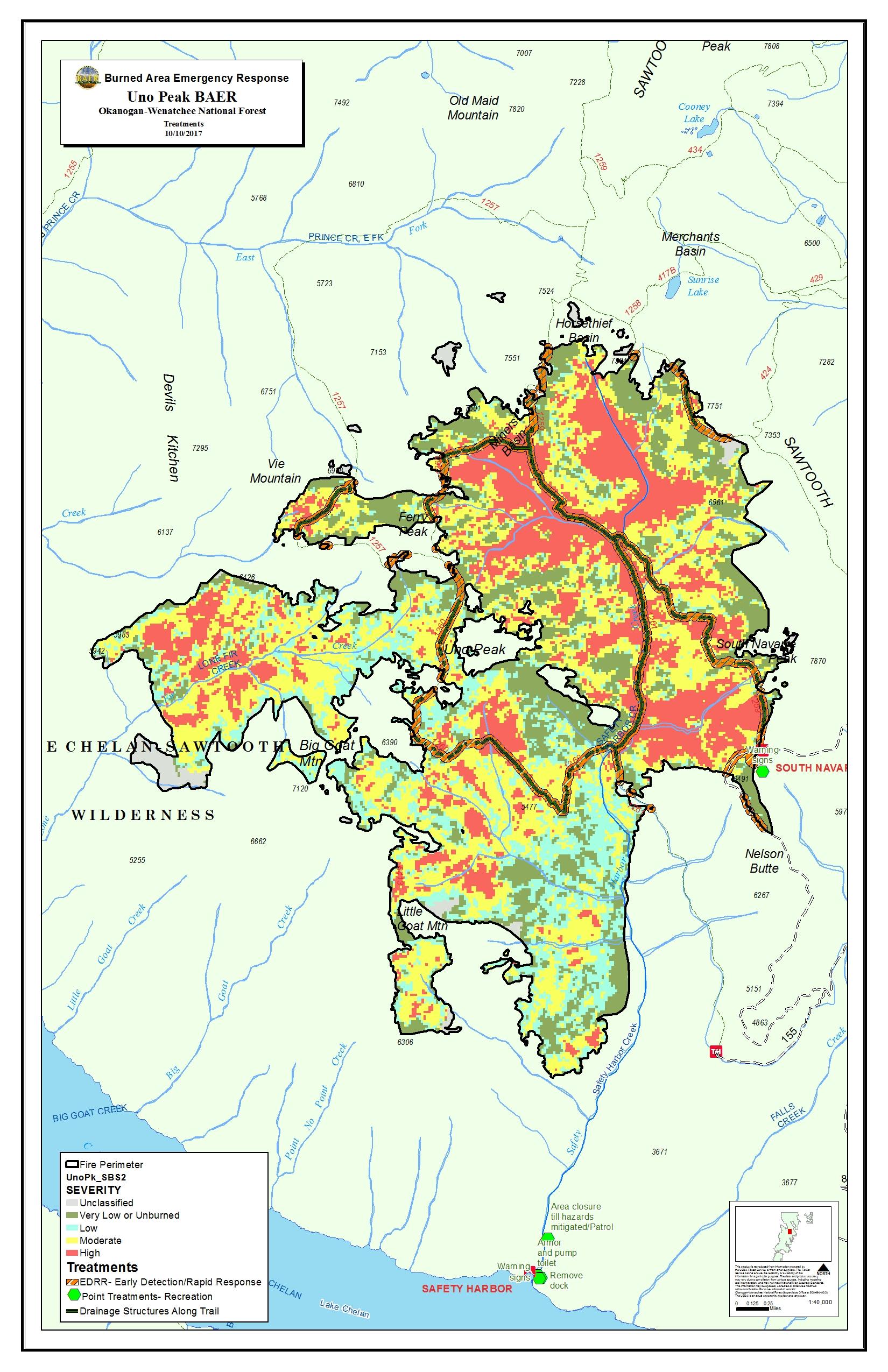 Peak Fire Map.Uno Peak Fire Central Washington Fire Recovery 2017